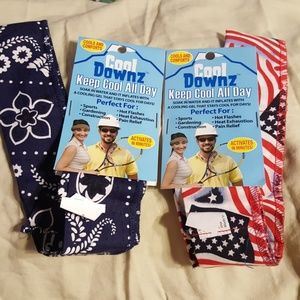 LOT OF 2 COOL DOWNZ NECK SCARVES-SEE DESIGNS